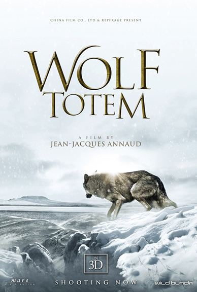 Wolf Totem Movie Poster featuring Instinct Animals for Film's Wolf