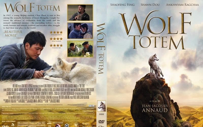 Wolf Totem book cover featuring Instinct Animals for Film's Wolf