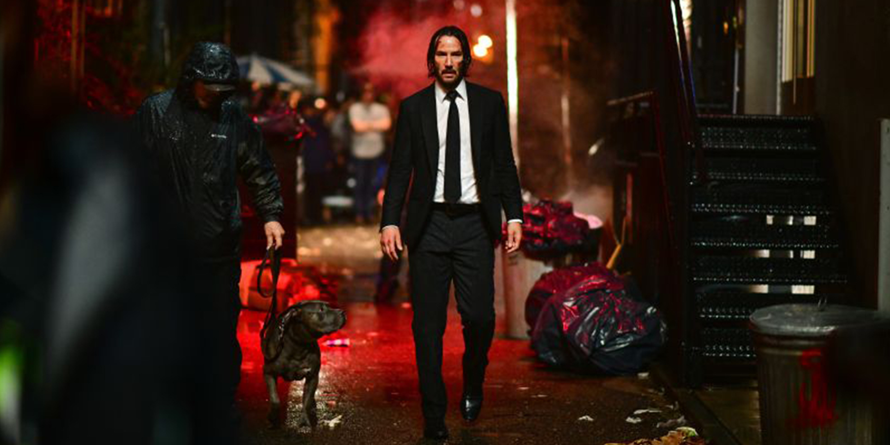 Keanu Reeves on set of John Wick Chapter 3