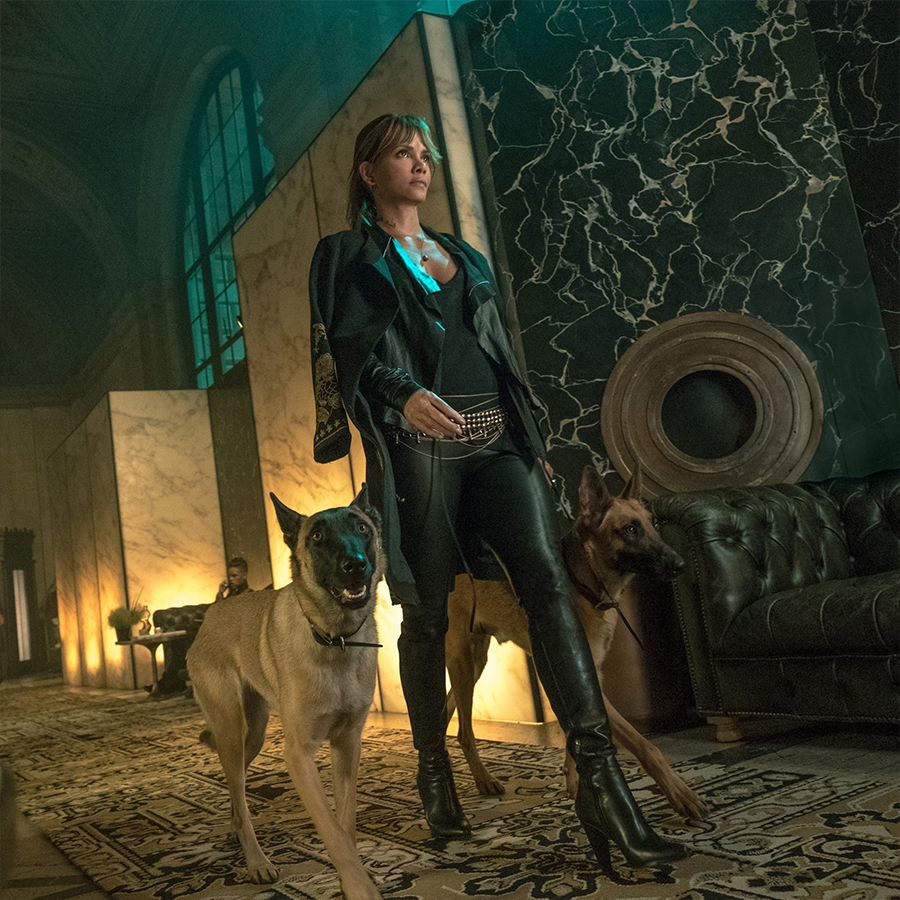 Halle Berry on set of John Wick Chapter 3