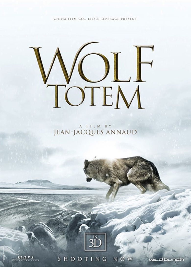 Wolf Totem hollywood movie poster featuring Instinct Animals for Film's Wolf